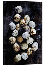 Canvastavla  Quail eggs on Ebony - K&L Food Style