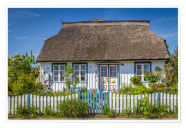 Premiumposter  Thatched cottage on the Baltic Sea - Christian Müringer