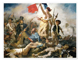 Poster  Liberty leading the people - Eugene Delacroix
