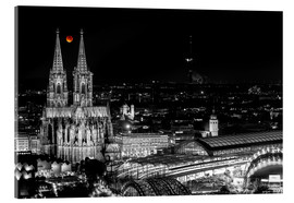 Akrylglastavla  Blutmond over the Cologne Cathedral - rclassen