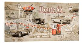 Akrylglastavla  Route 66 Map - Georg Huber