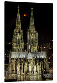 Akrylglastavla  Blood moon shines over Cologne Cathedral - rclassen