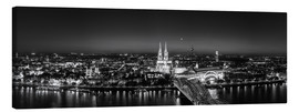 Canvastavla  Panorama of the Cologne skyline, Germany - rclassen