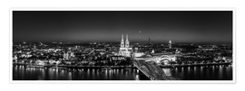 Premiumposter  Panorama of the Cologne skyline, Germany - rclassen