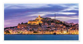 Premiumposter  The castle of Ibiza - FineArt Panorama