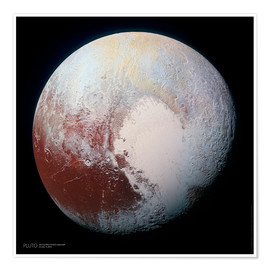 Premiumposter Pluto, seen by New Horizons spacecraft