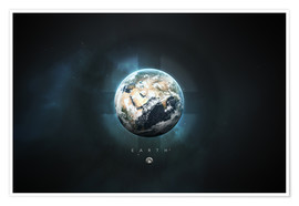 Premiumposter  Solar System Earth - Tobias Roetsch