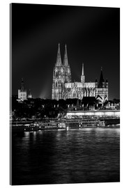 Akrylglastavla  Cologne Cathedral at night - rclassen
