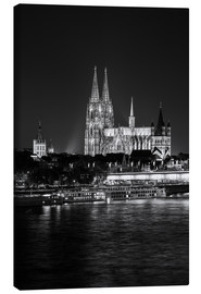 Canvastavla  Cologne Cathedral at night - rclassen