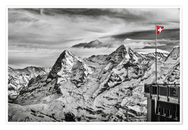 Premiumposter  Swiss Flag - Tanja Arnold Photography