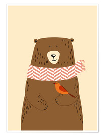 Poster  Bear in the fall - Sandy Lohß