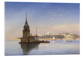 Akrylglastavla  The Maiden's Tower (Maiden Tower) with Istanbul in the background - Carl Neumann