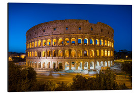 Aluminiumtavla  Colosseum in Rome at night - Jan Christopher Becke