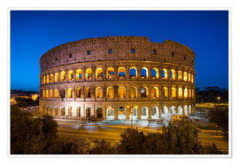Premium poster Colosseum in Rome at night