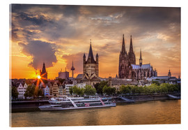 Akrylglastavla  Cologne Cathedral and Great St Martin - Jens Korte