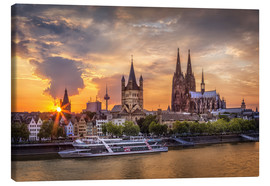 Canvastavla  Cologne Cathedral and Great St Martin - Jens Korte