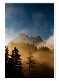 Premiumposter Foggy Morning in the Alps