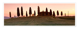 Premium poster  House with cypresses, Tuscany - Markus Lange