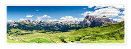 Premiumposter Seiser Alm panoramic view, South Tyrol