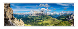 Premiumposter  The Dolomites in South Tyrol, panoramic view - Sascha Kilmer