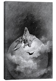 Canvastavla  The Raven - Gustave Doré