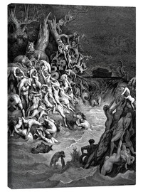Canvastavla  The world will be destroyed by water - Gustave Doré