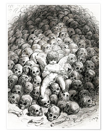 Premiumposter  Love reflects on Death - Gustave Doré