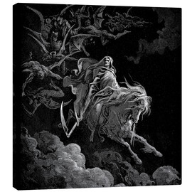 Canvastavla  The Vision of Death - Gustave Doré