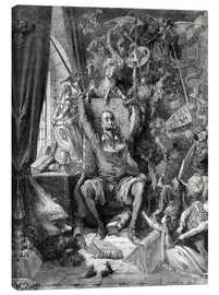 Canvastavla  Don Quixote, a world of disorder - Gustave Doré