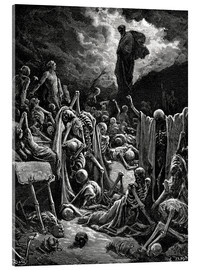 Akrylglastavla  The Vision of The Valley of The Dry Bones - Gustave Doré