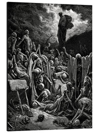 Aluminiumtavla  The Vision of The Valley of The Dry Bones - Gustave Doré