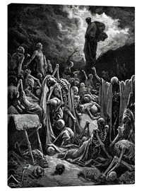 Canvastavla  The Vision of The Valley of The Dry Bones - Gustave Doré