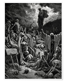 Premiumposter  The Vision of The Valley of The Dry Bones - Gustave Doré