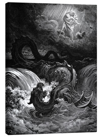 Canvastavla  The Destruction of Leviathan - Gustave Doré