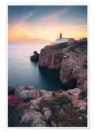 Premiumposter  At the end of the world (Cabo de São Vicente / Algarve / Portugal) - Dirk Wiemer