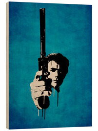 Trätavla  Clint Eastwood - Dirty Harry - Durro Art