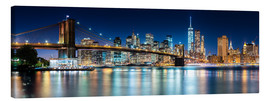 Canvastavla  New York City Skyline with Brooklyn Bridge (panoramic view) - Sascha Kilmer