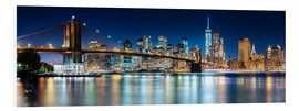 PVC-tavla  New York City Skyline with Brooklyn Bridge (panoramic view) - Sascha Kilmer