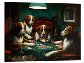 Akrylglastavla  The poker game - Cassius Marcellus Coolidge