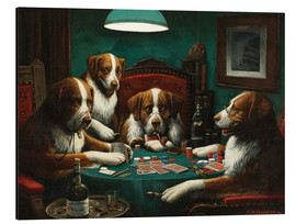 Aluminiumtavla  The poker game - Cassius Marcellus Coolidge
