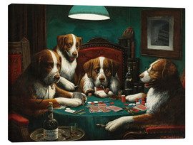 Canvastavla  The poker game - Cassius Marcellus Coolidge