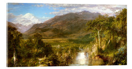 Akrylglastavla  Heart of the Andes - Frederic Edwin Church