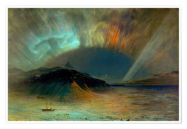 Premiumposter  Northern lights - Frederic Edwin Church