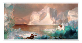 Premiumposter  The icebergs - Frederic Edwin Church