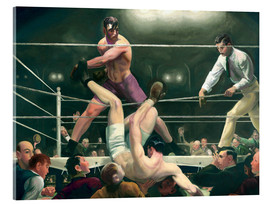 Akrylglastavla  Dempsey and Firpo - George Wesley Bellows