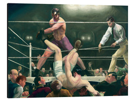 Aluminiumtavla  Dempsey and Firpo - George Wesley Bellows