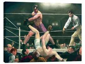 Canvastavla  Dempsey and Firpo - George Wesley Bellows