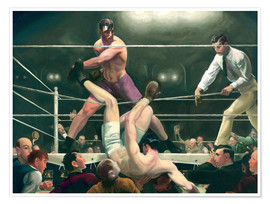 Premiumposter  Dempsey and Firpo - George Wesley Bellows