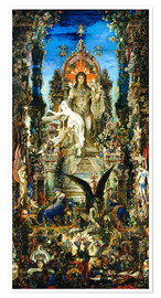 Premiumposter  Jupiter and Semele - Gustave Moreau