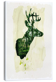 Canvastavla  The stag - Sybille Sterk